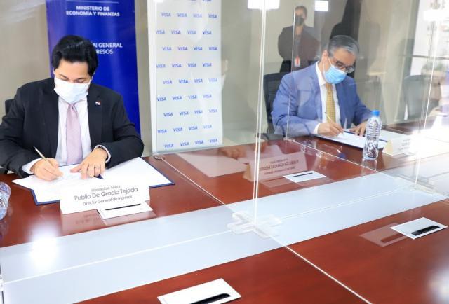 DGI y Visa renuevan convenios para facilitar el pago de impuestos a los contribuyentes