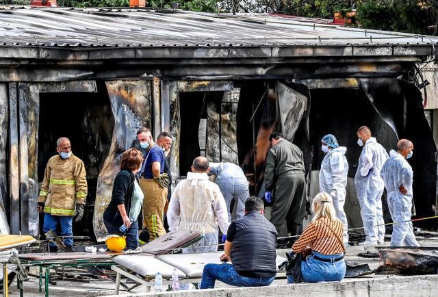 El número de muertos en el incendio de una unidad covid en Macedonia asciende a 14