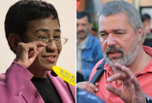 El Premio Nobel de la Paz reconoce la libertad de expresión con el premio a un periodista filipino y ruso